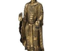 27. statuette de maitreya en bronze doré dynastie ming, xviie siècle  