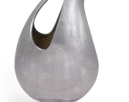 22. an italian silver limited edition pitcher, gabriele de vecchi, milan, circa 1960-70