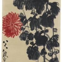 143. qi baishi (1864-1957) chrysanthèmes