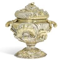 306. an italian parcel-gilt silver vase and cover, possibly giuseppe grazioli, rome, circa 1750 |