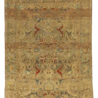 7. a 'polonaise' silk and metal-thread rug, isphahan or kashan, central persia