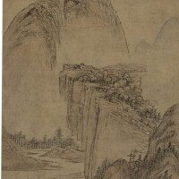 605. attributed to huang gongwang | sunset in lofty mountain
