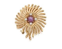 39. gold, star ruby and diamond brooch, verdura