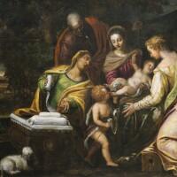 26. follower ofpaul véronèse | the mystical marriage of saint catherine