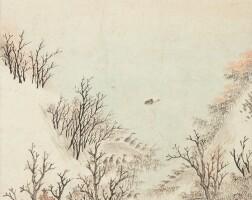 1005. 吳歷 1632-1718 | 楓江群雁