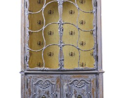 42. a german rococo carved and painted display cabinet, circa 1770