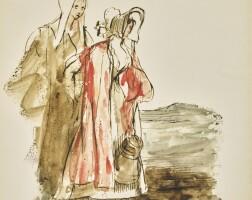 18. sir david wilkie, r.a. | study of two girls walking