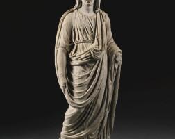 24. a roman marble togate figure of a woman, circa 2nd century a.d. | a roman marble togate figure of a woman