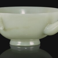 219. a celadon jade pouring vessel, india, mughal, 17th/18th century