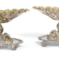 710. a pair of french silver double salt cellars, odiot, paris, late 19th/early 20th century