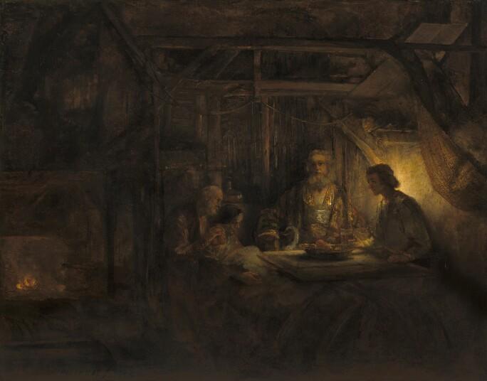 Rembrandt van Rijn, Philemon and Baucis