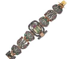 22. gem set and diamond bracelet, early 20th century