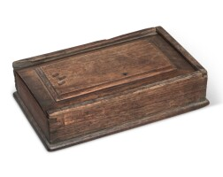 6004. walnut sliding-lid box, pennsylvania, 18th century