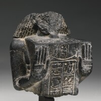 5. an egyptian granite stelophorous statue, 2nd half of the18th dynasty, circa 1400-1292 b.c.