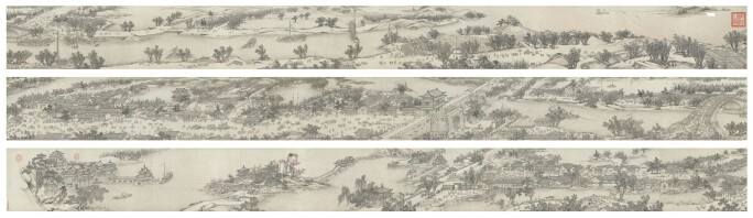 Shen Yuan, Along the river during the Qingming Festival