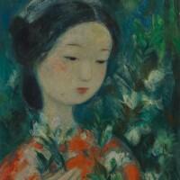 231. 武高談   採花的少女