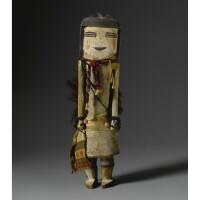 1. a hopi polychrome wood kachina doll, probably depicting lenya