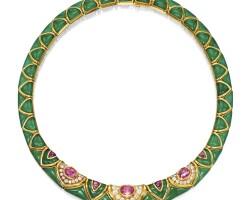 1631. gem set and diamond necklace, van cleef & arpels