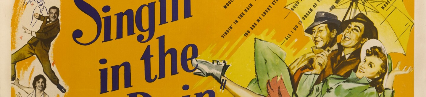 singin' in the rain movie poster in auction selling film posters