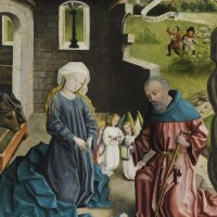 10. attributed to johann koerbeckecoesfeld or münster circa 1415/20 - 1491 münster | the nativity