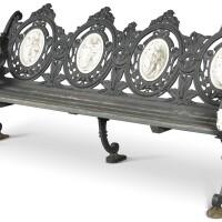 161. a victorian cast iron bench by morgan, macaulay and wade, circa 1870 |
