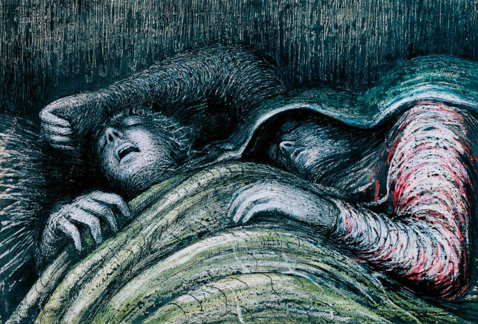 Pink and Green Sleepers 1941 by Henry Moore OM, CH 1898-1986