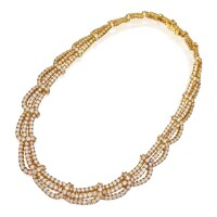 6. 18 karat gold and diamond necklace