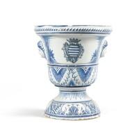 15. a nevers earthenware garden vase, 18th century