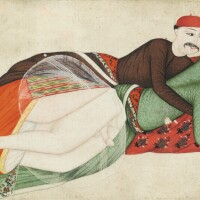 55. turkey, probably istanbul, 18th century, two erotic scenes, ascribed to abdullah bukhari, both signed and one dated 1156 ah/1743 ad