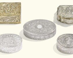 11. four french silver boxes, various makers, paris, 1755-1780