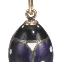 433. an enamel egg pendant, 1908-1917