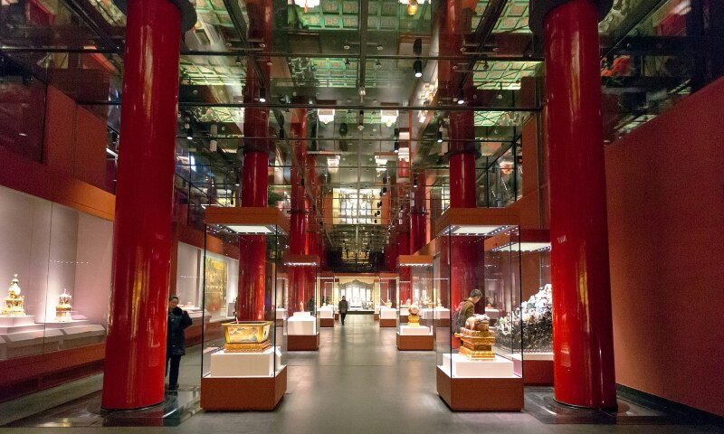 Interior view of the Palace Museum.