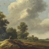 103. pieter potter   summer landscape with figures and grazing cattle