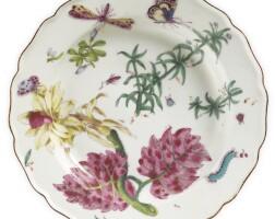 5. a chelsea porcelain 'hans sloane' botanical soup plate circa 1755
