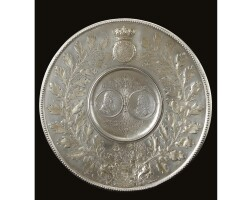 27. an austrian parcel-gilt silver dish, signed paul krall wien, vienna, circa 1903 otherwise apparently unmarked