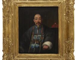119. 清十九世紀 林官派像 油彩畫布