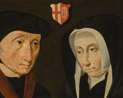 120. northern netherlandish school, early 16th century | double portrait of a husband and wife