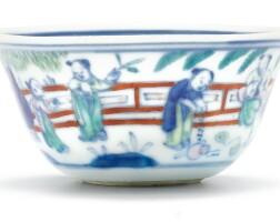 346. 清十八世紀 鬪彩嬰戲盃 《大明成化年製》仿款  
