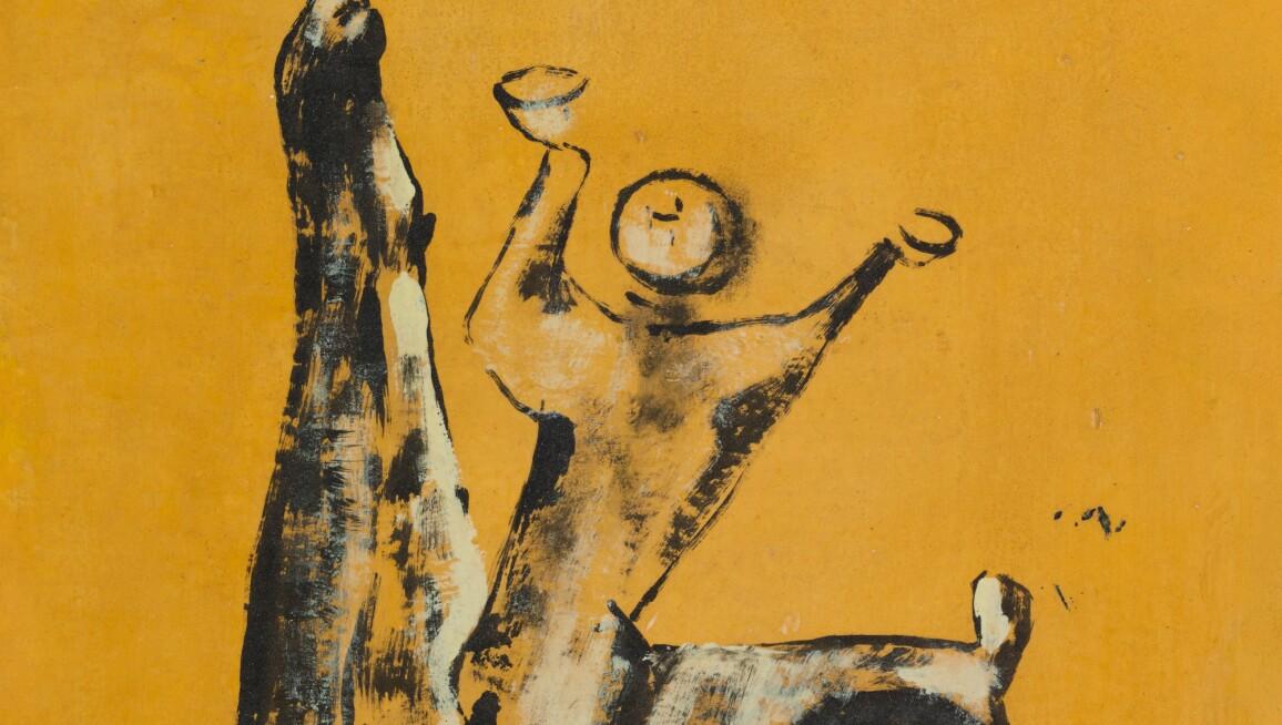 Marino Marini's Cavallo e cavaliere, man on a horse painting