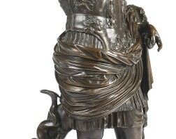 31. a brown patinated bronze figure of augustus caesarof prima porta,italy, late 19th/early 20th century
