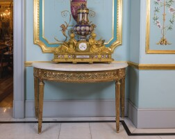8. a neoclassical style carved giltwood console table
