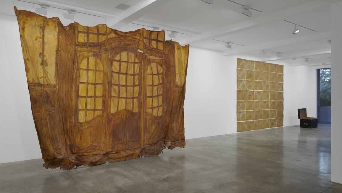 Heidi Bucher, 'Kleines Glasportal, Bellevue Kreuzlingen' (Small glass portal, Bellevue Kreuzlingen.) Installation view at Parasol unit, London, 2018. Photograph by Benjamin Westoby.