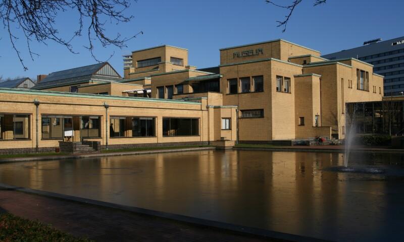 Exterior view of the Gemeentemuseum, in Den Hague.