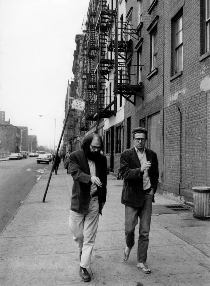 allen ginsberg with peter orlovsky,1966