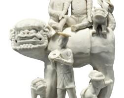 301. a 'dehua' 'european subject' figural group qing dynasty, kangxi period