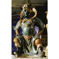 4. a sancai tile makers figure of a guardian, ming dynasty, 16th/17th century