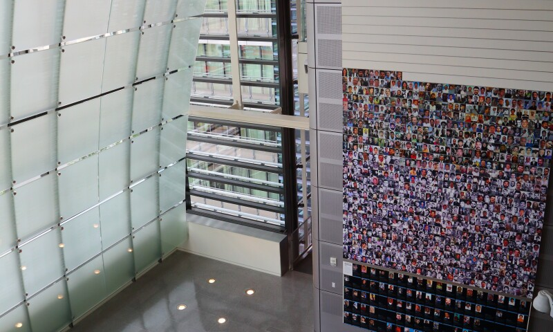 Interior view of the Newseum in Washington, D.C.