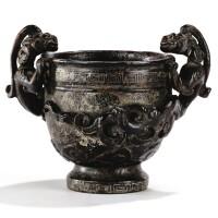 46. rare coupe libatoire en bois d'aloes laqué et sculpté dynastie ming  