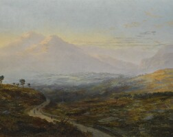 37. william mcevoy   glengariff from the kenmare road, evening