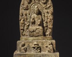 202. 東魏興和三年 黃花石雕佛七尊像 |